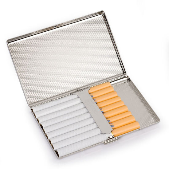 Ultra-Thin Stainless Steel Metal Cigarette Case Holder Box for 100′s Cigarettes pictures & photos