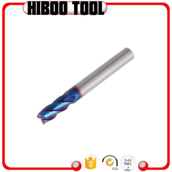 65HRC Blue Nano Coating Super Performance Carbide Milling Cutters