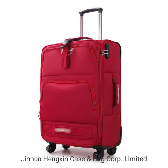 Fashionable Travelling Trolley Case Oxford Cloth Luggage Suitcase Bag Hxw-011 pictures & photos