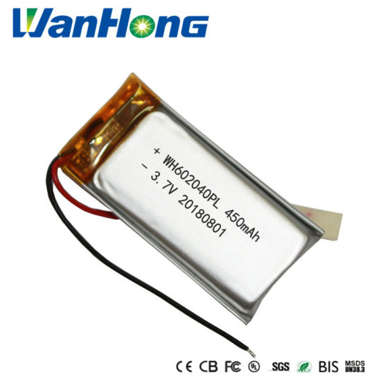 602040pl 450mAh 3.7V Rechargeable Lithium Ion Li-Polymer Battery Pack Li-ion Battery for Mouse Games