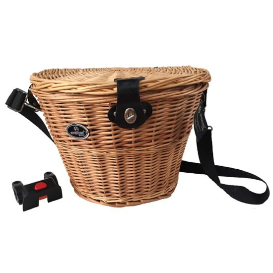 Willow Bike Basket with Handle & Plastic Qr (HBK-149)