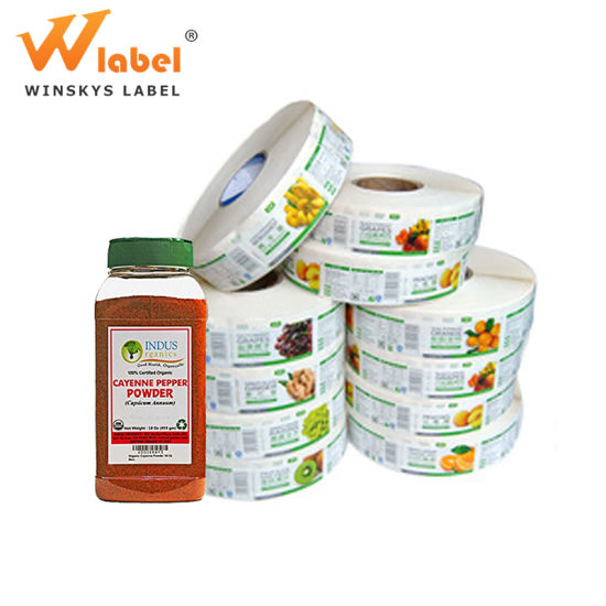 Cheap Price Self Adhesive Glossy Paper Printing Bottle Tomato Sauce Labels