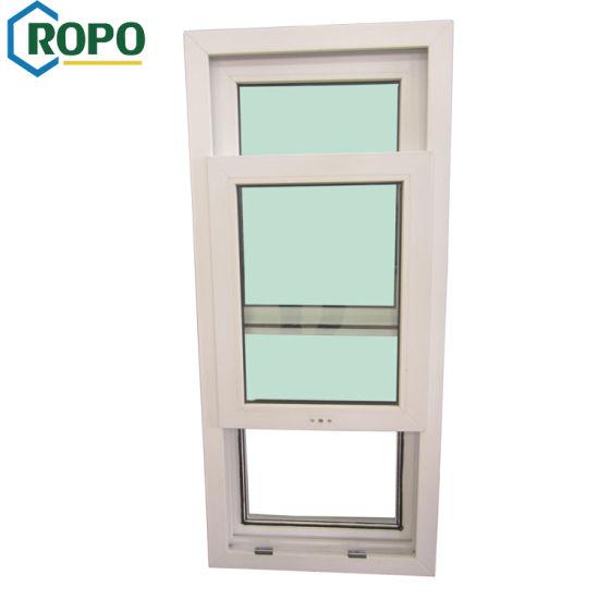 China Pvc Double Glazed Single Hung Window