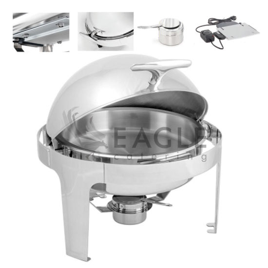 Remarkable Hot Sale Hotel Restaurant Round Design Stainless Steel Buffet Service Chafing Dish Download Free Architecture Designs Grimeyleaguecom