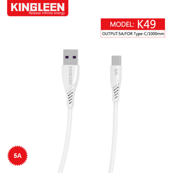 USB-C to USB 5.0 Type-C 5A Quick Charge Super Fast Data Cable (3FT) for Samsung Galaxy S20, Galaxy, Sony, Huawei, Xiaomi, Oneplus