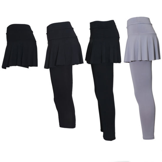 OEM Womens Pleated One-Piece Skirted Leggings Sports Tennis Wear/Dress/Skirt/Activewear pictures & photos
