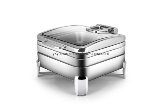 High Quality Stainless Steel Square Chafing Dish Buffet Chafing