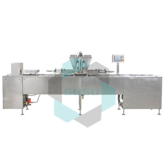 Gusu Center Filling Chocolate Bar Moulding Depositing Machine