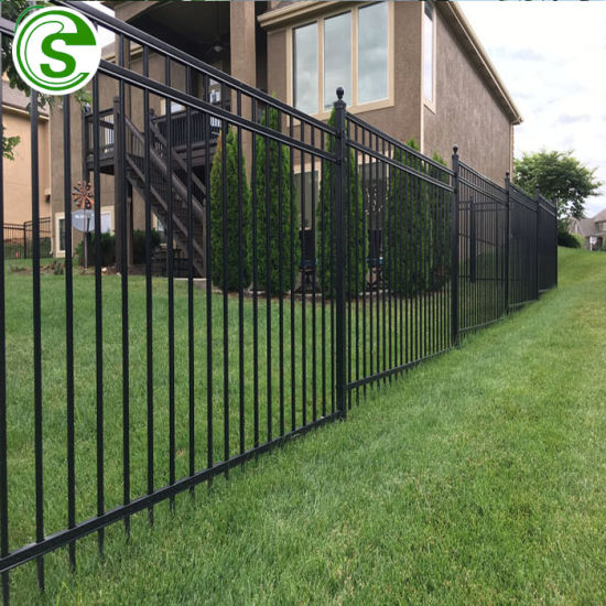 Shiny Black Garden Fence Galvanized