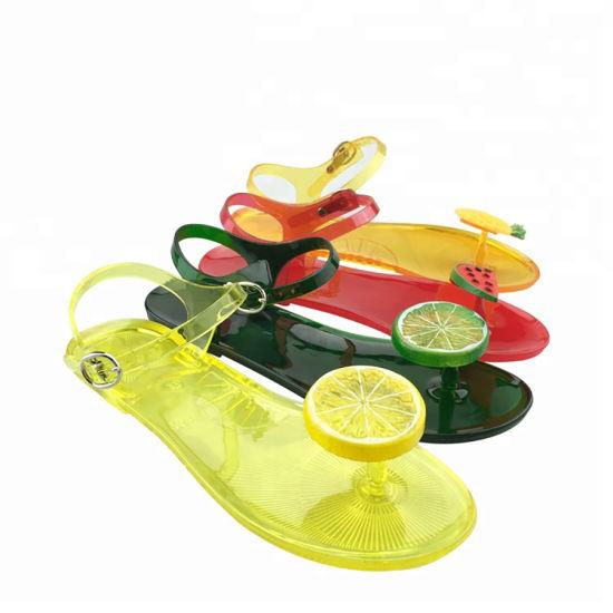 Lady Plastic Fruit Shoes Wholesale Jelly Sandals