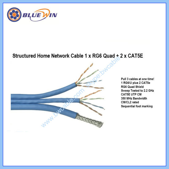 Bundled Home Office Network Cable 1xrg6 Quad+2xcat5e pictures & photos