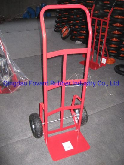 High Quality Steel Hand Trolley with 3.50-4 Pneumatic Wheel Ht1837