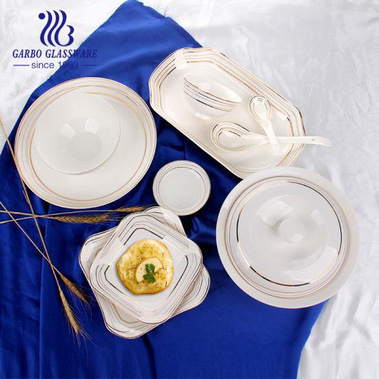 Garbo 50PCS Magnesia Ceramic Dinnerware Sets Porcelain Tableware Dinner Set with Decal Tz50-Tc27001-Qt-320A