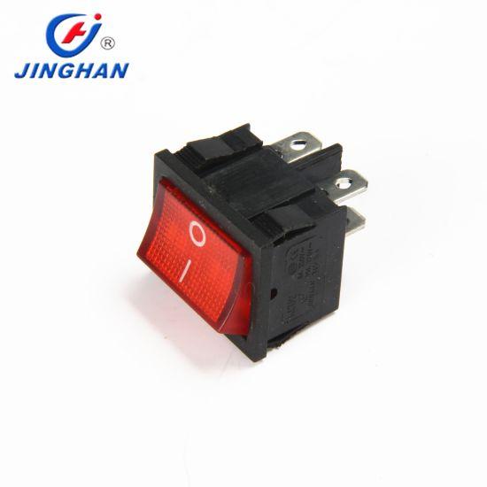 Jinghan 4pins Illuminated Rocker Switch Kcd2-501/4pn