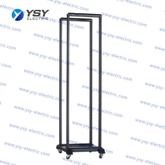 Ysy Solid Welded Open Rack Frame Network Rack Cabinet