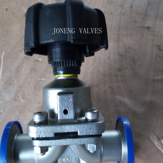 Joneng Stainless Steel Sanitary Manual Clamped Diaphragm Valve Vapor Entry Control Valve (JN-DV1011) Made in China