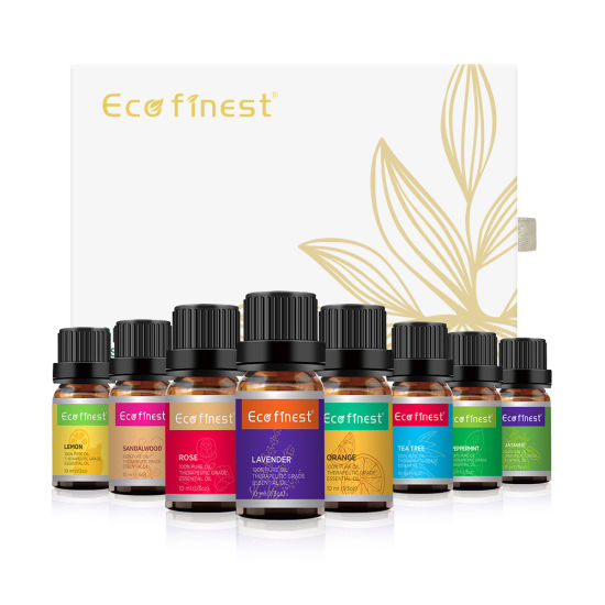 Manufacturers Wholesale 100% Pure Organic Natural Therapeutic Aromatherapy Essential Oil Gift 8/10ml Set for Diffuser