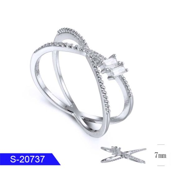 Fashion Jewelry Sterling Silver or Brass Pave Diamond Ring for Women pictures & photos