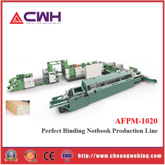 Automatic Exercise Book Machine, From Reel to Pile with Flexo Printing, Glue Back Binding, Digital Printing, Offset Printing, Flat Bed Printer