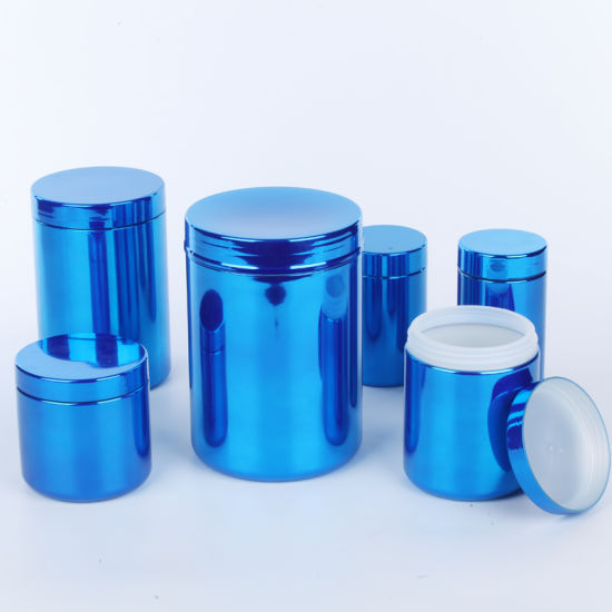 8oz Wholesale UV Glossy Plastic Jar 250g Storage Food Grade Packaging Container
