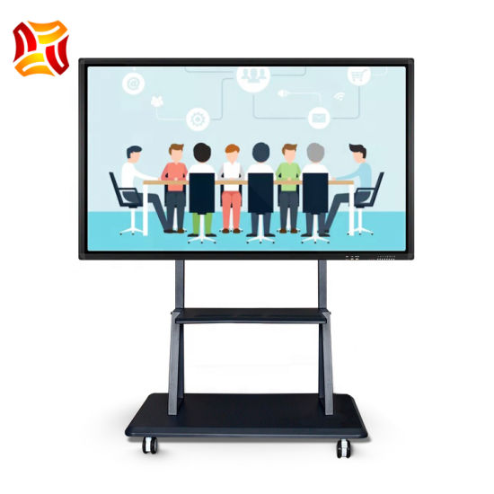 """65""""Inch LCD Monitor Floor Standing Educational Equipment Smart Digital Board 10 Points IR Touch Screen Interactive Whiteboard Office Supply LCD Panel"""
