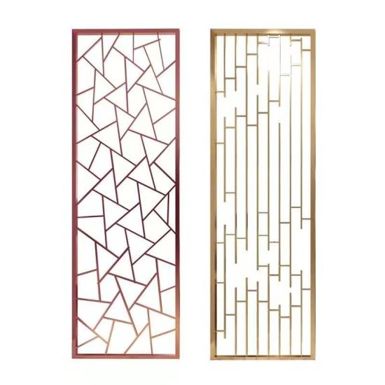 Light Luxury Aluminum Art Hollow Lattice Screen