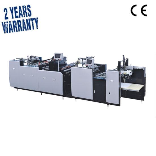 Automatic Cardboard Paperboard Aluminum Plastic Flatbed Printer Cutting Coating Gluing Embossing BOPP Film Laminating Machine (SAFM-1080)
