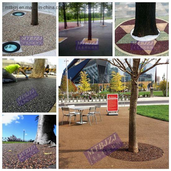 Epoxy Resin Bonding Aggregates Pebble Stones Park Tree Pit Garden Outdoor Floor Epoxy