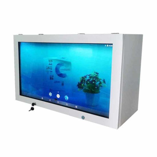 LCD Transparent Advertising Display Box for Shopping Mall