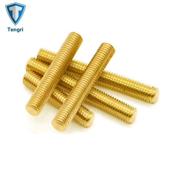 Brass High Precision Thread Connector Waterproof Threaded Rod Stud Bolt