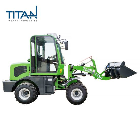Factory Titan 800kg TL08 China Agriculture Articulated Mini Small Compact Farm Garden Tractor Wheel Front End Loader with CE/ISO
