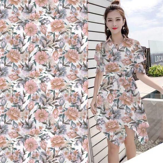 Yigao Textile Pearl Chiffon Digital Printing Fabric Plain Printed Garment Fabric