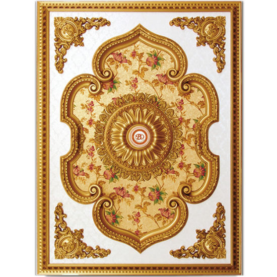 Banruo Gold Floral Rectangular Ceiling Medallion pictures & photos