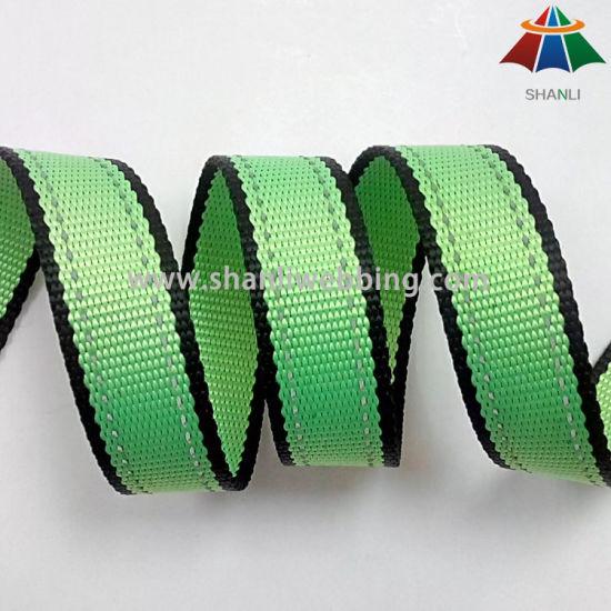 1 Inch Yellow Green Reflective Fabric Webbing