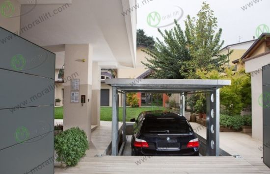 High Quality Basement Garage Car Lift With Roof
