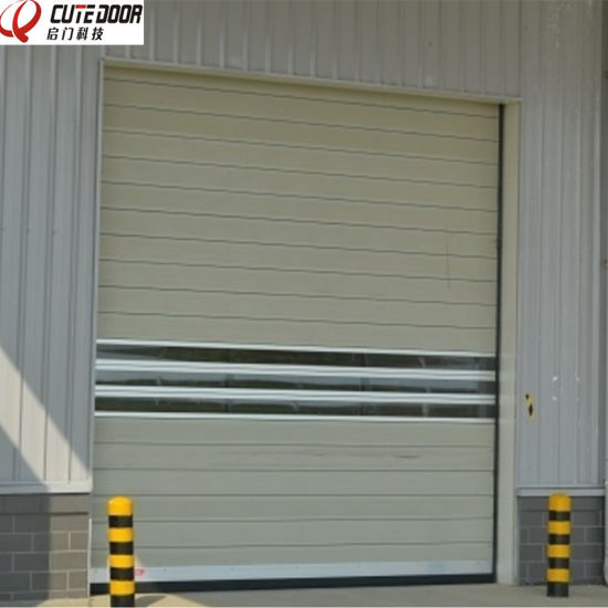 Aluminium Spiral Insulated Hard Material High Speed Rolling Door pictures & photos