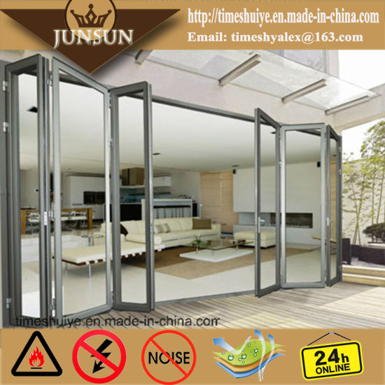 China Top Quality Double Glazing Aluminium Glass Folding Door with ...