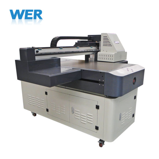 New Model A1 UV Printer Wer-ED6090UV Can Print White and Varnish