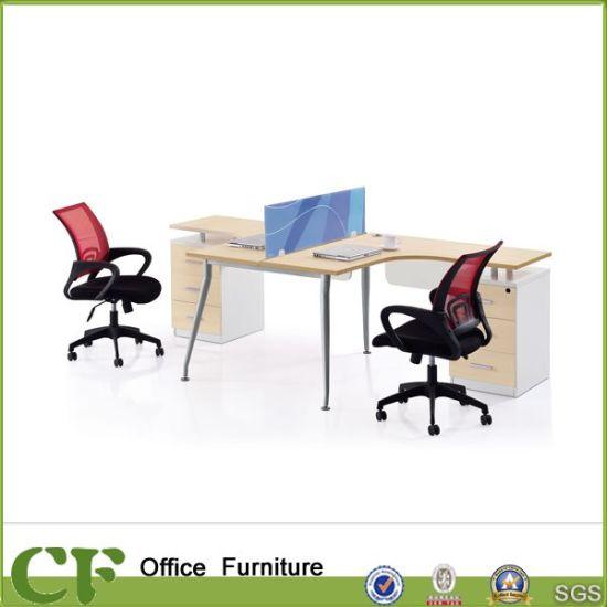 2 Person L Desk Workstation Yd D1324