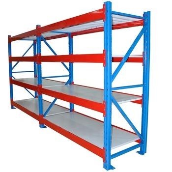 Orange Beam Blue Upright Frame Industrial Storage Racks