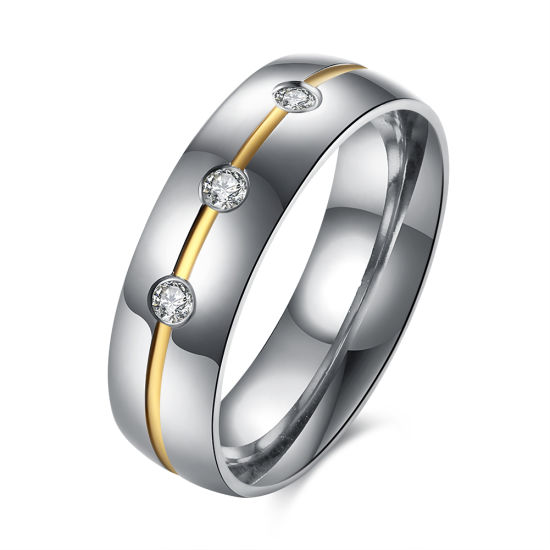 383bbe1dee088 China The European and American Fashion Three Zircon Gold Plated ...