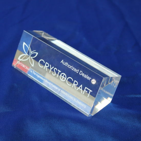 China Customize Clear Acrylic Trophy Event Laser Engraved