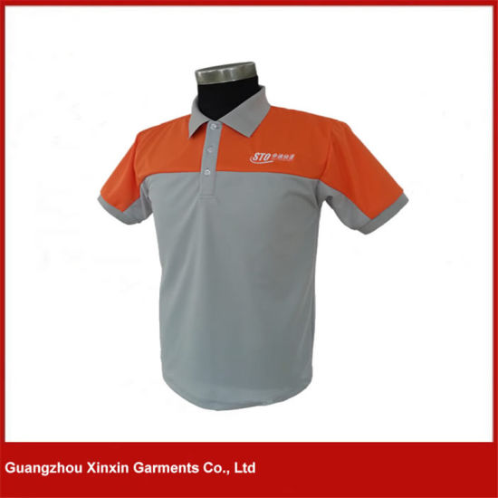 China Factory Customized Two Color Polo T Shirts For Men P75