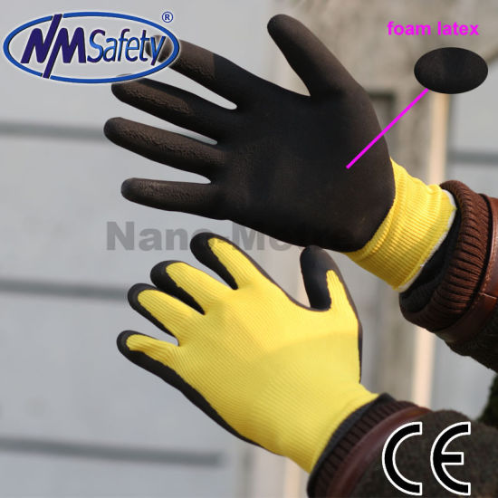 Nmsafety 13 Guage Latex Rubber Coated Garden Work Gloves