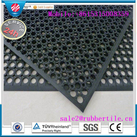 Antibacterial Anti-Slip Hotel Rubber Floor Mats, Kitchen Sink Mat