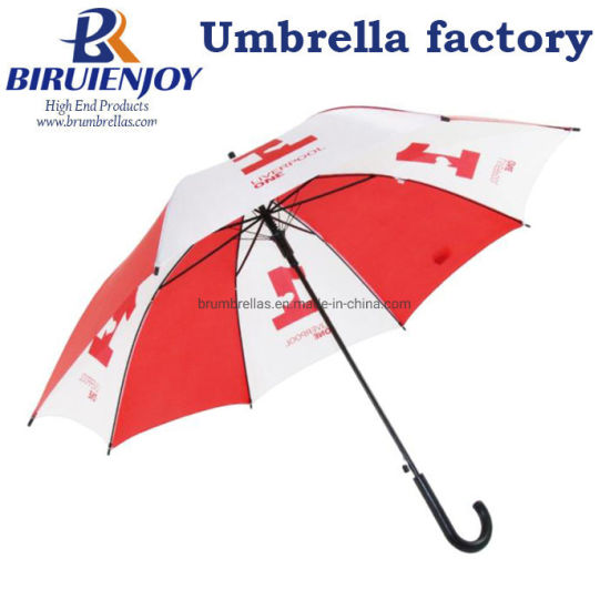 Custom High-Quality Cheap Advertising Promotional Rain Straight Umbrella with Logo Printing