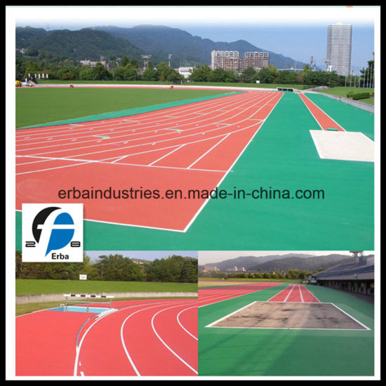 Iaaf Approved Eco-Friendly Rubber Running Track for Sports Court Flooring pictures & photos