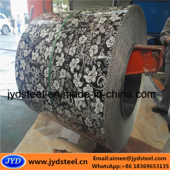 Color Coated PPGI Steel Coil with Flower Pattern pictures & photos