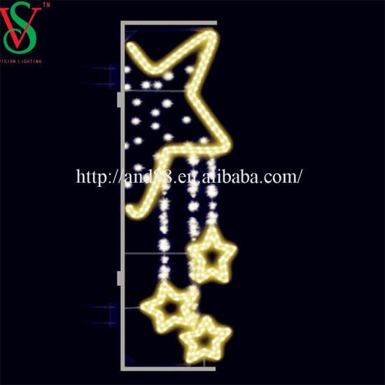 Christmas Street LED Lights of Star Motif Light