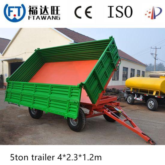 Galvanizing /PVC Coated Farm Tipping Truck Trailer Dumper Trailer